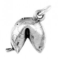 SILVER  FORTUNE COOKIE CHARM WITH ONE SPLIT RING