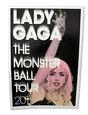 LADY GAGA - PAWS UP MONSTER BALL TOUR 2011 GLOSSY WALL POSTER NEW OFFICIAL 26X38