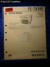 Sony Service Manual TC TX101 Cassette Deck (#4626)