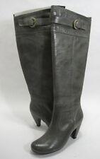 MIZ MOOZ WOMEN'S SAMANTHA OVER-THE-KNEE HIGH-HEEL BOOT GREY LEATHER SIZE 6.5 MED