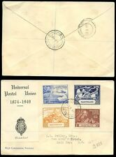 BASUTOLAND 1949 REGISTERED UPU FIRST DAY COVER HIGH COMMISSION CACHETED