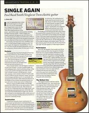 PRS Singlecut Trem Electric guitar Sound Check 8 x 11 Paul Reed Smith review