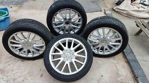 """GENUINE VW GOLF GT TDI GTD CLASSIX 17"""" ALLOY WHEELS BBS Mk5 Mk6 Mk7 Jetta Touran"""