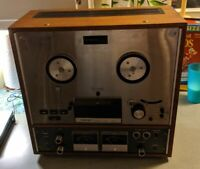 TEAC A-4010S AUTO-REVERSE STEREO TAPE DECK REEL-TO-REEL 3 HEAD MOTOR Vtg Wood