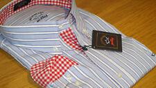 New Paul & Shark Casual Shirt Blue & White Stripe size 4XL Superb quality WOW !!