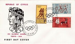 Cyprus 1964 Olympic Games FDC Special Cancel VGC Unaddressed