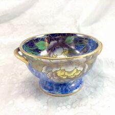 Maling England Small Handled Bowl Vintage Ceramic Lustre Flowers