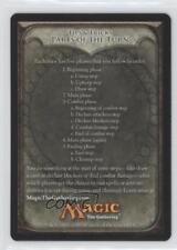1993 #2 Tips & Tricks Parts of the Turn (Token) Magic Card o3e