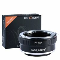 K&F Concept Adapter for Pentax PK K Mount Lens to Sony NEX E Mount A7 A7R A7S