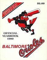 1980 Baltimore Orioles Baseball Yearbook, Jim Palmer , Eddie Murray