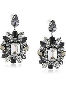 Vintage 2014 Atelier Swarovski By Shourouk Limited Edition Flower Black Earring