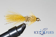 ICE FLIES. Streamer fly, The golden streamer.Size 2, - 10 (3-pack)