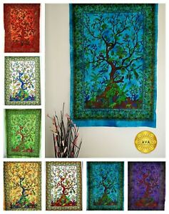 TREE OF LIFE Wall Hanging Tapestry Bohemian Boho Hippie Home Decor 40x30 inches