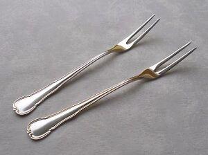 RAR Two Big Meat Forks WMF 3200 Baroque IN 90er Silver