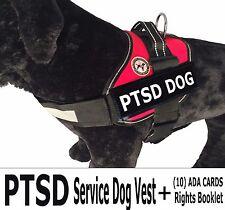 PTSD -SERVICE  DOG VEST - Vest + Rights Card/Booklet + (2) Service Dog Patches