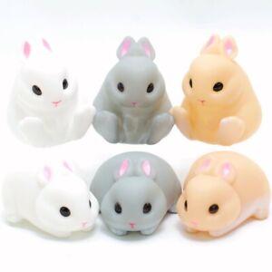 Japanese Blind Box Gray White Brwn Rabbit Sofubi Soft Vinyl Figure 1 Random Toy