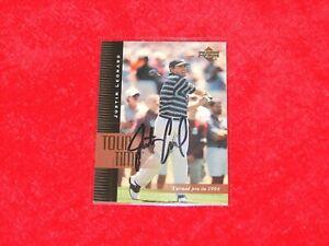 JUSTIN LEONARD 2001 UPPER DECK #186 TT SIGNED AUTOGRAPHED (H-511)