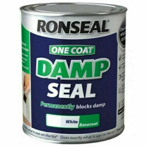 Damp Seal Paint White Anti Water Stain Block Proof 250ml Ronseal One Coat Stains