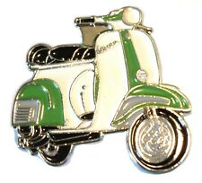 Green & White Scooter MOD Metal Scooterist Enamel Badge MODS Scooterist NEW