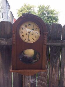 German Gustav Becker Hanging Wall Chiming Clock