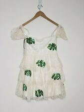 Lovers + Friends Charleston Ivory Palm Dress New With Tags Womens Size S