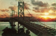Postcard Sunset San Francisco Oakland Bay Bridge California