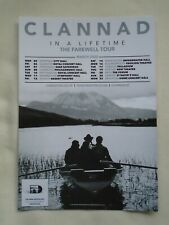 """CLANNAD Live in Concert """"In a Lifetime"""" Farewell UK Tour 2020 Promotional flyer"""
