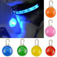 Mini Pet Safety Keyring Night Light Pendant Dog Cat Puppy LED Flashing Collar SY