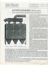Depliant Listino Usuelli Imero & Figli Autofiltraesse Filtri pulizia Aria 1940