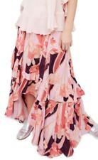 Free People Pink Bring Back The Summer Asymmetric Ruffle Maxi Skirt OB603821 6