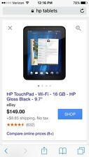 Hewlett Packard Hp Touchpad Tablet
