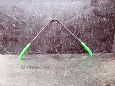 Ayurveda Zungenreiniger aus Edelstahl, Zungenkratzer (grün)