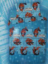 Completo Lenzuola letto Singolo Spiderman Uomo Ragno Marvel bimbo