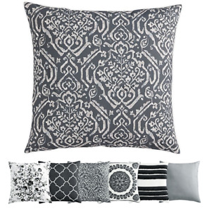"New Morgan Home Della Square Removable Throw Pillow Cover in Grey 20""x20"""