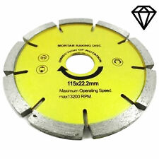 "Diamond Mortar Masonry Joint Raking Disc 4 1/2"" 115x22mm Angle Grinder Pointing"