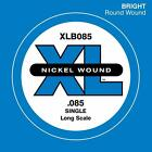 D'Addario XLB085 Nickel Wound Bass Guitar Single String, Long Scale, .085 for sale