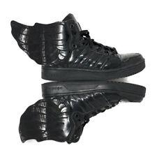 Rare Adidas Jeremy Scott Wings 2.0 All Black Patent Leather Q23668 Mens Size 6.5