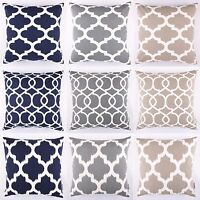 """Moroccan Lattice Ikat Cushion Cover Pillow Case 18x18"""" 45x45cm By DecorUnited"""