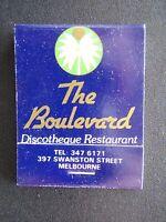 LE BOULEVARD DISCOTHEQUE RESTAURANT 397 SWANSTON ST 3476171 MATCHBOOK
