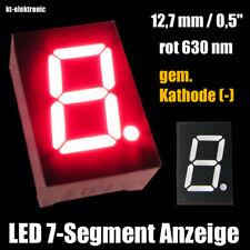 """10 Stück LED 7-Segment Ziffernanzeige 12,7mm 0,5"""" rot 630nm gem. Kathode (-)"""