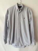 Ralph Lauren Blake Mens Button Down Shirt Size M Blue Plaid Long Sleeve
