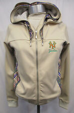 New York Yankees Women Medium Full Zip Beige Double Hood Jacket MLB A13TLF