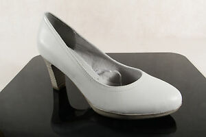 Tamaris Damen Pumps Slippers Casual Shoes Pumps White Real Leather 22410 New