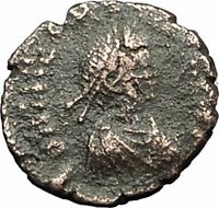 THEODOSIUS II 425AD Christian CROSS Genuine Authentic Ancient Roman Coin i59274