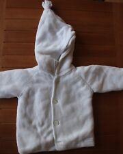 Veste manteau blanc bébé tricot doublée Petit Bateau 6 mois