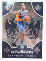 RJ Barrett RC 2019-20 Panini Chronicles CRUSADE Chrome Rookie Card 540 NY Knicks