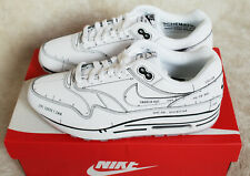 New Nike Air Max 1 Sketch to Shelf Tinker White Black Schematic UK 9 US 10 EU 44
