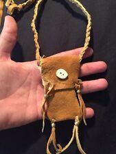 Medicine bag Brain Tan Native American Made not commercial brain tan REAL smokey