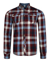 Lee Cooper Long Sleeve New Mens Cotton Check Shirt Hadleigh Green Blue Red Beige