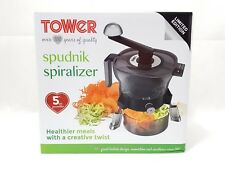 1 D3 Tower Limited Edition Spiralizer With Detachable Bowl T80428 - Black